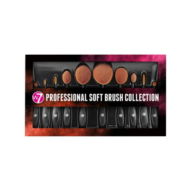 W7 Professional Soft Brush Collection - Σετ πινέλων μακιγιάζ 10 τεμαχίων