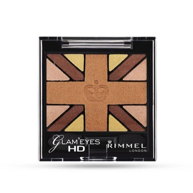 Rimmel Glam'Eyes HD Quad Eye Shadow, 007 Heart Of Gold