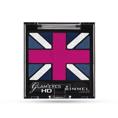 Rimmel Glam'Eyes HD Quad Eye Shadow, 008 True Union Jack