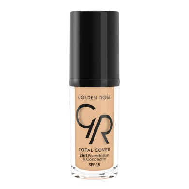 Golden Rose COVER 2in1 Foundation & Concealer Νο. 03 Almond, 30ml
