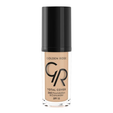 Golden Rose Total Cover 2in1 Foundation & Concealer Νο. 05 Cool Sand, 30ml