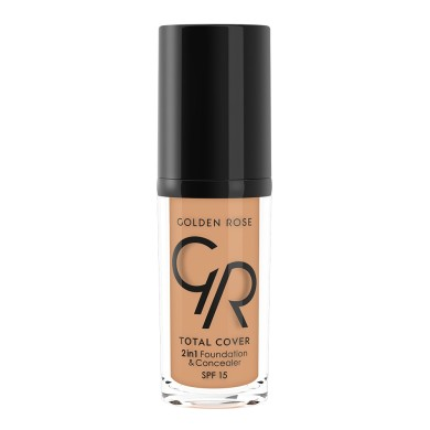 Golden Rose Total Cover 2in1 Foundation & Concealer Νο. 10 Warm Beige, 30ml