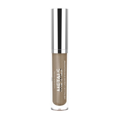Golden Rose Metals Metallic Liquid Eyeshadow, No. 107 Mocha, 4.5ml