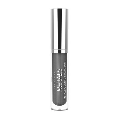 Golden Rose Metals Metallic Liquid Eyeshadow, No. 109 Gun Metal, 4.5ml