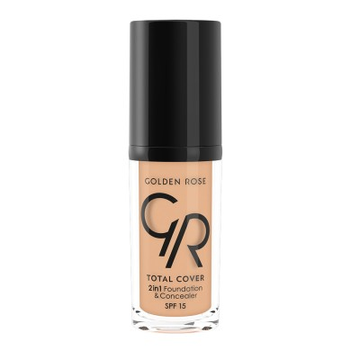 Golden Rose COVER 2in1 Foundation & Concealer Νο. 12 Light Beige, 30ml