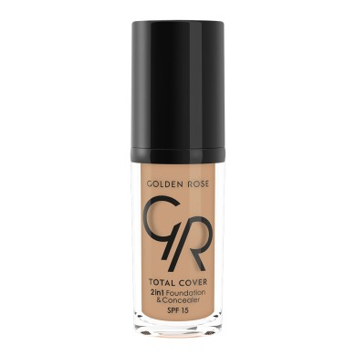 Golden Rose Total Cover 2in1 Foundation & Concealer Νο. 16 Cappuccino, 30ml