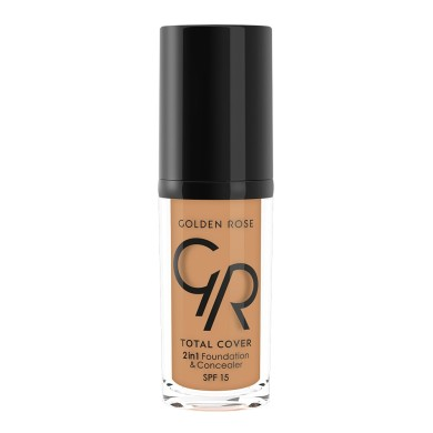 Golden Rose Total Cover 2in1 Foundation & Concealer Νο. 19 Caramel, 30ml