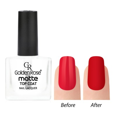 Golden Rose Matte Top Coat Nail Lacquer