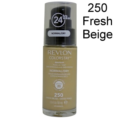 Revlon Colorstay Foundation Normal/Dry Skin, 250 Fresh Beige, 30ml