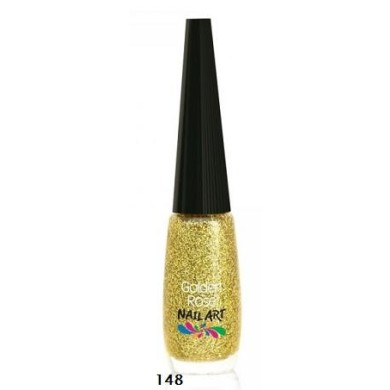 Golden Rose Nail Art, No. 148