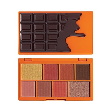 Makeup Revolution I Heart Mini Chocolate Eyeshadow Palette Choc Orange 10.2g