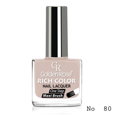 Golden Rose Rich Color Nail Lacquer, No.80