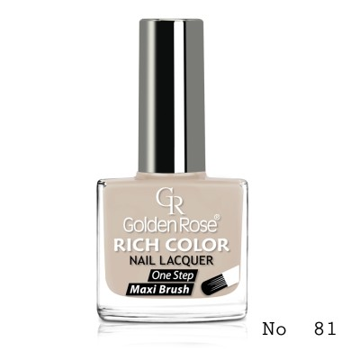 Golden Rose Rich Color Nail Lacquer, No.81
