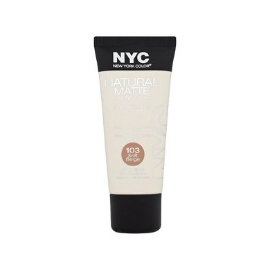 NYC Natural Matte Foundation, No. 103 Soft Beige 30ml