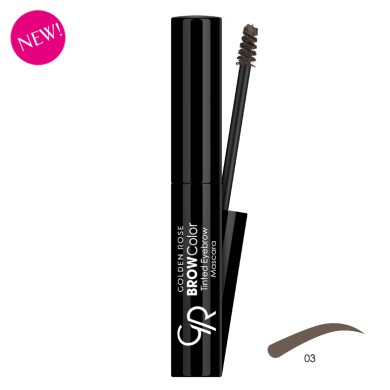 Golden Rose BROW Color Tinted Eyebrow Mascara, No. 03, 4.2ml