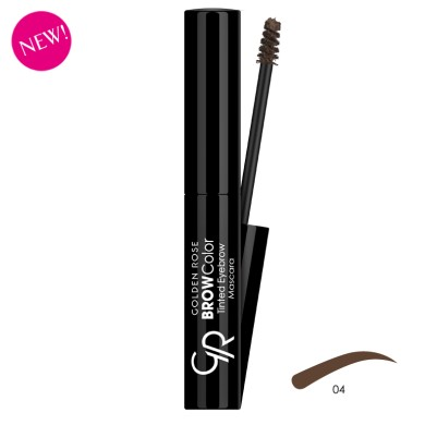 Golden Rose BROW Color Tinted Eyebrow Mascara, No. 04, 4.2ml