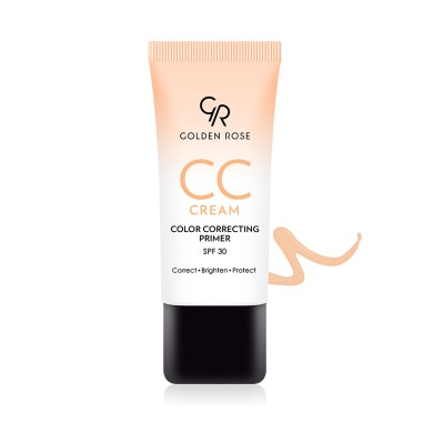 Golden Rose CC Cream Color Correcting Primer SPF30, Orange 30ml