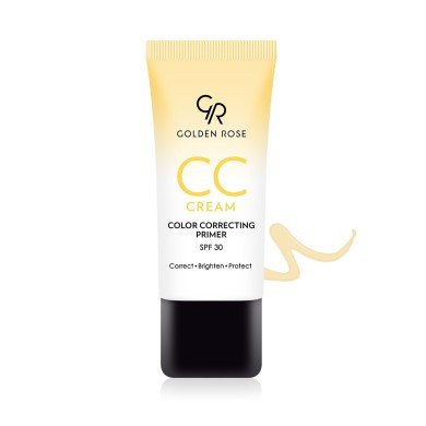 Golden Rose CC Cream Color Correcting Primer SPF30, Yellow 30ml