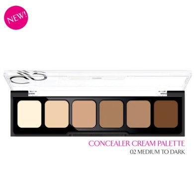 Golden Rose Correct & Conceal Palette, 02 Medium to Dark, 12g