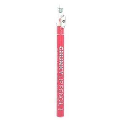 Technic Chunky Lip Liner & Colour Pencil with Sharpener-Coral 1.8g