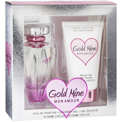 Gold Mine Mon Amour Gift Set (Ladies 100ml EDP + Shower Gel 100ml) Linn Young