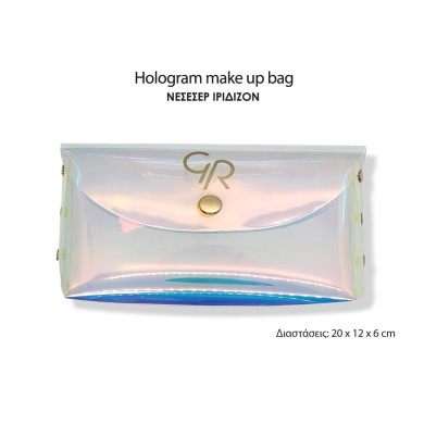 Golden Rose Hologram Make Up Bag Small