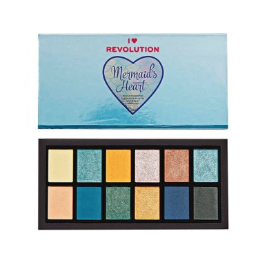 Makeup Revolution Mermaids Heart Eyeshadow Palette 9g