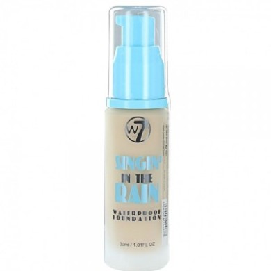 W7 Cosmetics Singin' In the Rain Waterproof Foundation, Sand Beige, 30ml