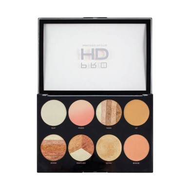 Makeup Revolution Pro HD Amplified Highlighters Palette - Brighter Than my Future 32gr