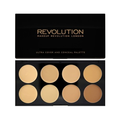 Makeup Revolution Ultra Cover And Conceal Palette Corrector Light-Medium 10gr