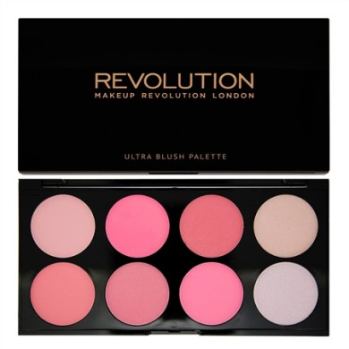 Makeup Revolution Ultra Blush Palette All About Pinκ, 13g
