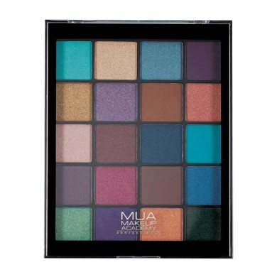 MUA 20 shade Eyeshadow Palette - Peacock Plumage 22g