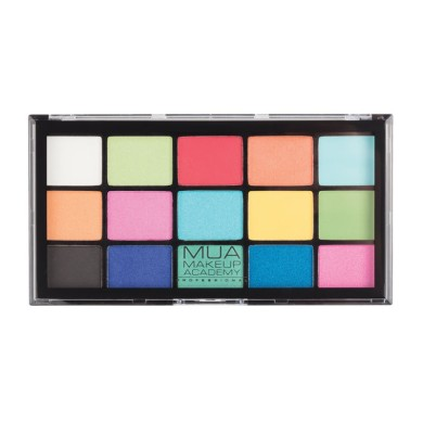 MUA Professional 15 Shade Eyeshadow Palette - Colour Burst 12g