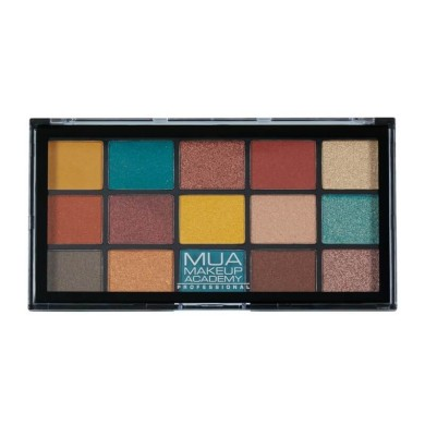 MUA Professional 15 Shade Eyeshadow Palette - Force of Nature 12g