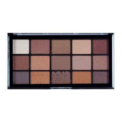 MUA Professional 15 Shade Eyeshadow Palette - Au Naturel 12g