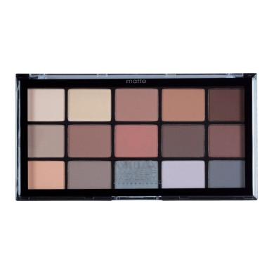 MUA Professional 15 Shade Eyeshadow Palette - Feather Light 12g