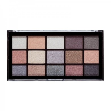 MUA Professional 15 Shade Eyeshadow Palette - Frosted Gleam 12g
