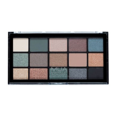 MUA Professional 15 Shade Eyeshadow Palette - Green Goddess 12g