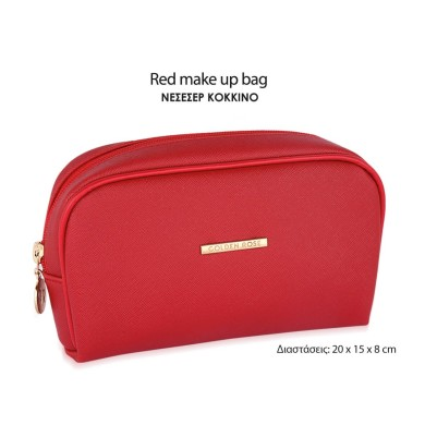 Golden Rose Red Make Up Bag